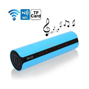 Enceintes Bluetooth universelle portable FM kit mains-libres NFC Bleu