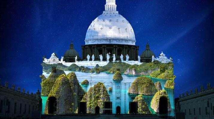Resultado de imagen para juego de luces basilica de san pedro, roma