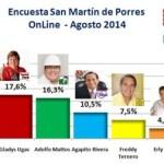 Encuesta Online San Martín de Porres – Agosto 2014