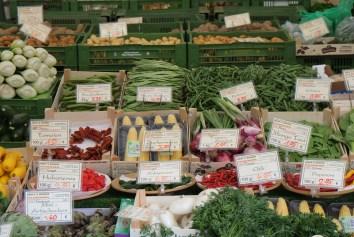 Auswahl am Viktualienmarkt