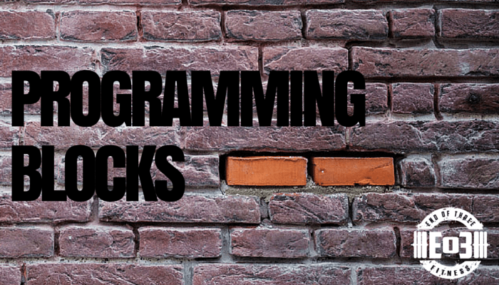Training is better with programming blocks