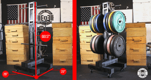 DIY Bumper Plate Storage: Weight Tree