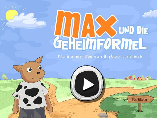 Max und die Geheimformel: eine schöne Geschichte, Wimmeln und Minispiele in einer App