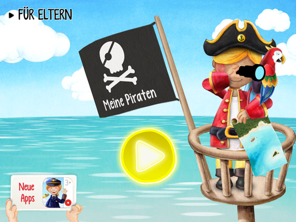 Interaktive Wimmelbuch App mit Piraten