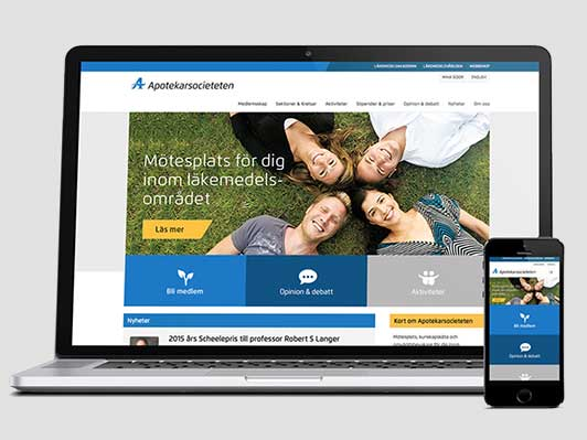 Apotekarsocietetens webbplats