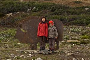 enfant-radonnée-famille-dovrefjell-Norvège