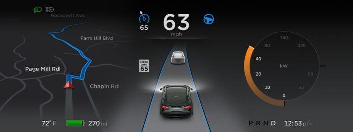 Tesla 7.0 interface