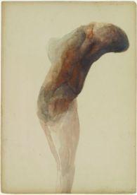 Berlinde De Bruyckere, Aanéén-genaaid, 2001. Aquarelle sur papier Collection Enea Righi © Antonio Maniscalo