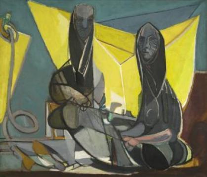 Édouard Pignon, Les remailleuses de filets, 1946 Huile sur toile 170 x 200 cm Collection du musée d'art moderne de Céret, dépôt de collection particulière. Photographie : Robin Townsend/ADAGP 2013.
