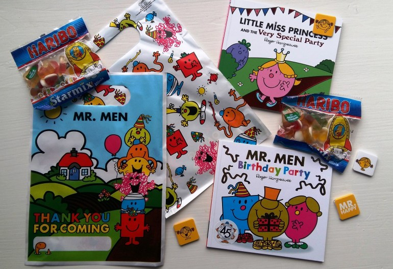 Mr Men Birthday Party - loot bags
