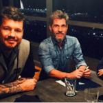 """Tinelli, Chato y Hoppe: """"excelente reunión de preproduccion"""""""