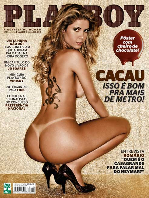 Playboy: fotos da Cacau, ex BBB, nua na edio de novembro