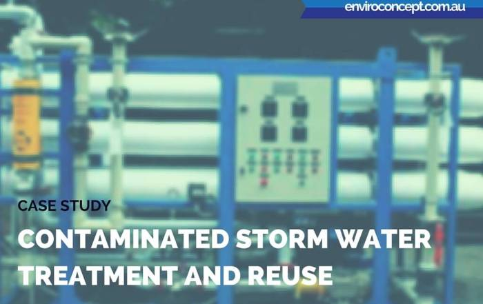 Contaminated Storm Water Treatment and Reuse