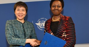 At the ICAO World Aviation Forum, ICAO's Secretary General Dr. Fang Liu and UN-Habitat's Dr. Aisa Kirabo Kacyira initialled a Memorandum of Understanding that will make important contributions to States' pursuit of the UN's Agenda 2030 for Sustainable Development. The initiative has picked five airports located in four different African cities under a pilot project