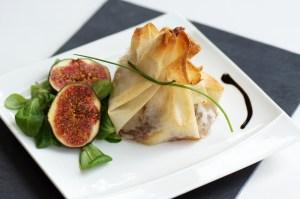 aumônière de fromage brebis et chutney figue Epicerie de Provence