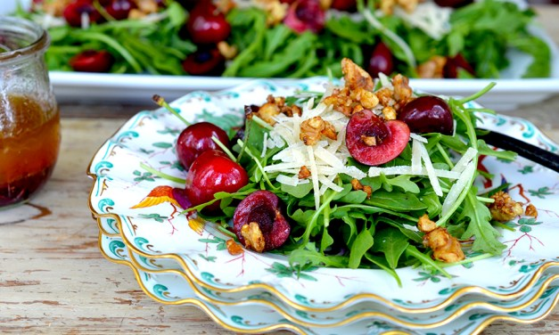 Sweet Cherry & Arugula Salad