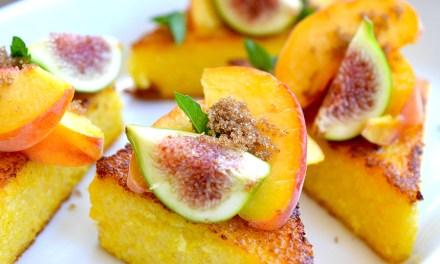 Polenta and Peach Obsession