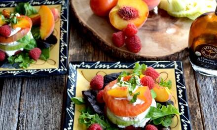 Heirloom Tomato, Peach and Burrata Salad