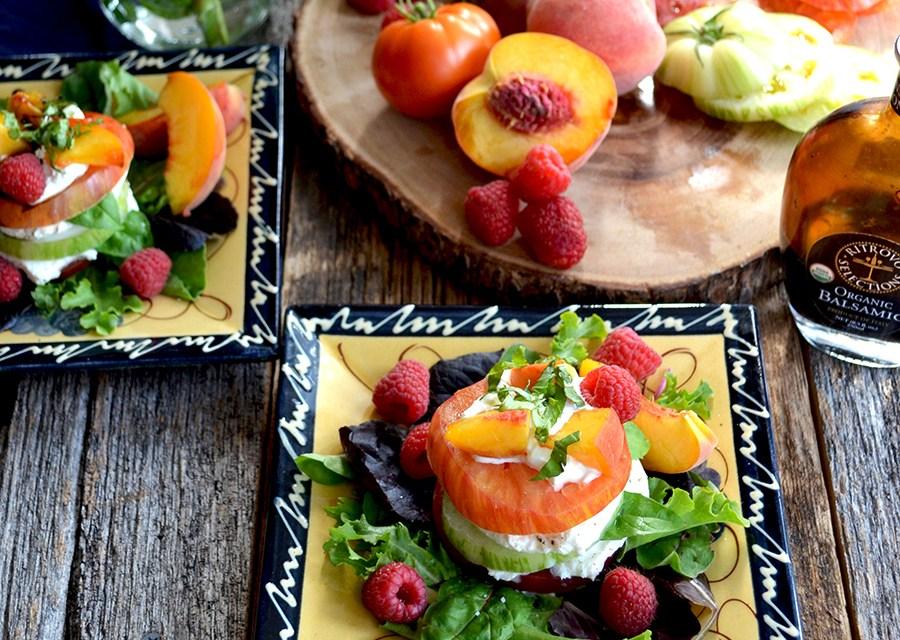 Heirloom Tomato, Peach and Burrata Salad | Epicurean Eva