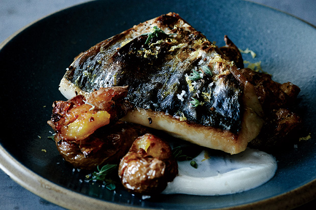 Mackerel with Crushed Potatoes and Oregano recipe
