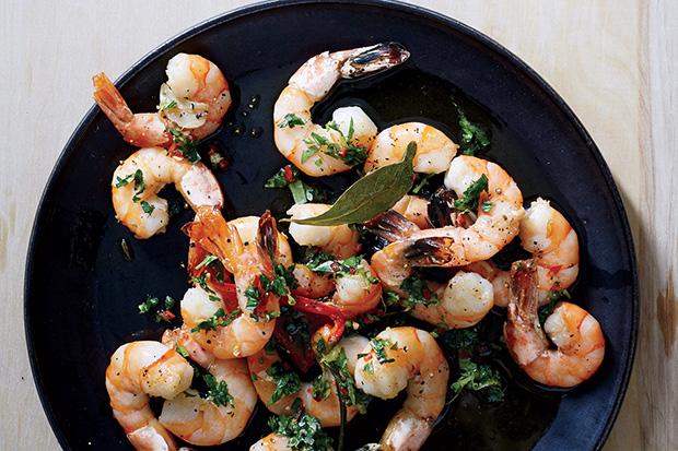 Roasted Shrimp with Chile Gremolata recipe