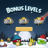 Angry Birds for Chrome: Christmas Bonus Levels Unlock Codes