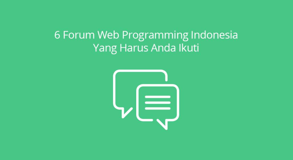 Forum Web Programming Indonesia