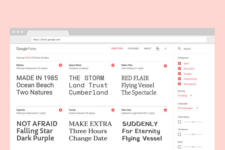 Ini Tampilan Baru Google Fonts