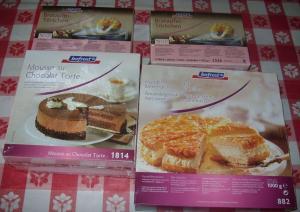 Boftost Bratapfeltörtchen, MandelBienenstich Mousse au chocolat Torte