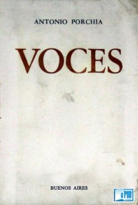Voces - Antonio Porchia portada