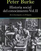 Historia social del conocimiento Vol. II - Peter Burke portada