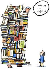 Traditional publishers - illustration by HikingArtist.com