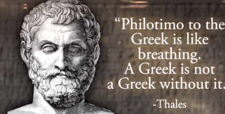 "Being a Greek: The word ""philotimo"""