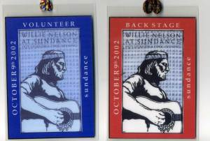 Willie Nelson Backstage Passes