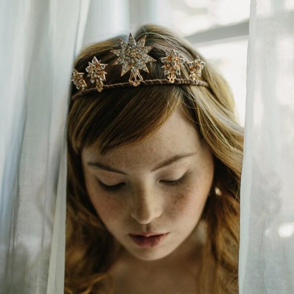 bridal star tiara, wedding tiara, 1920s starburst crown, wedding headpiece
