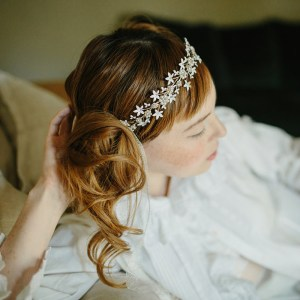 flower hair crown, bridal flower crown, whimsical crown, boho halo