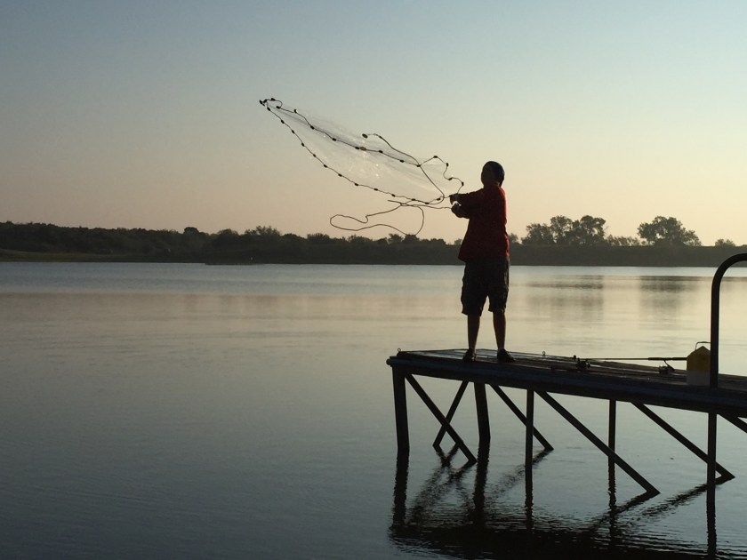 It was mesmerizing watching Jesse fish with his net for bait fish. I took wayyyyyy too many photos for a sane person, but come on...it's poetry in motion.