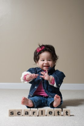 Scarlett 8 Month Portraits