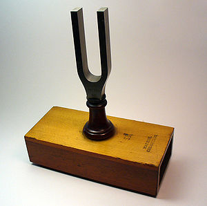 Tuning fork (Diapason) on resonance box, by Ma...