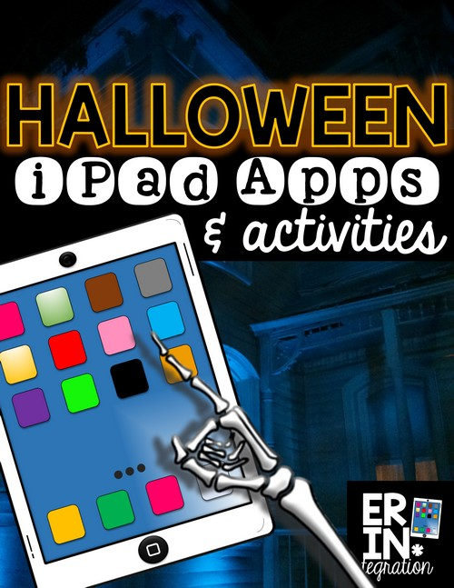 Halloween apps and activities for the iPad in the elementary classroom. Check out these 5 creative ways to integrate iPads into Halloween plans!