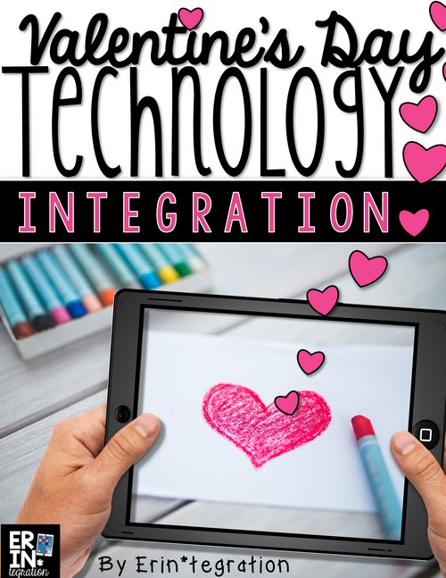 Valentine's Day technology integration ideas for the elementary classroom. Creative ways to use iPads, PCs, and Chromebooks that your students will LOVE!