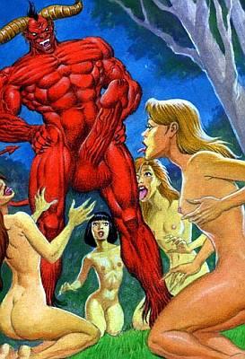 gay satanic art