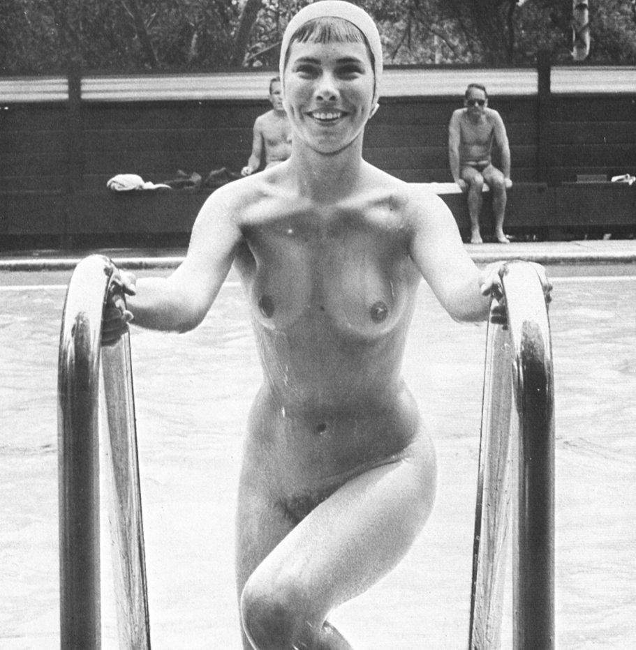 swimming nude at school