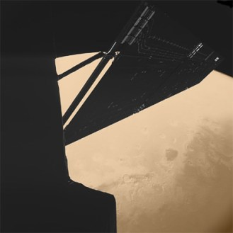 Image of Mars taken with the camera onboard the Philae lander.