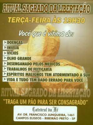 pão consagrado, o outro evangelho