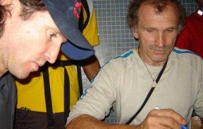 Stefan Glowacz y Kurt Albert en la proyección Figth Gravity en Venezuela