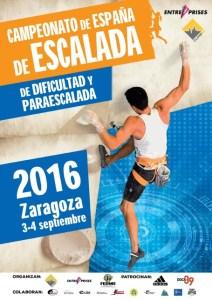Campeonato de España de Escalada de Dificultad y Paraescalada 2016 Zaragoza @ Rocódromo Dock39 | Zaragoza | Aragón | España