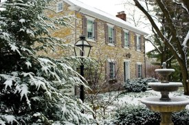 Our fieldstone farmhouse, which dates from 1732.