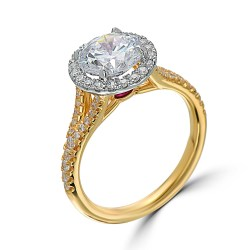 Small Of Yellow Gold Engagement Rings