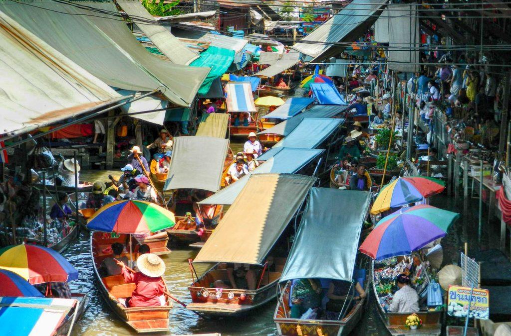 Decepções de viagem - Mercado Flutuante de Damnoen Saduak, na Tailândia
